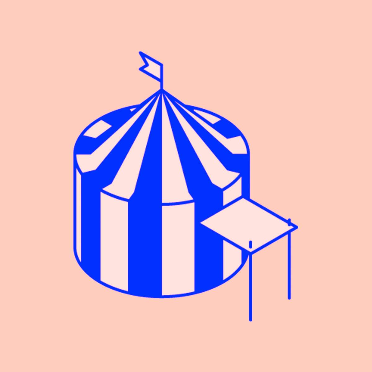Piirretty sirkusteltta